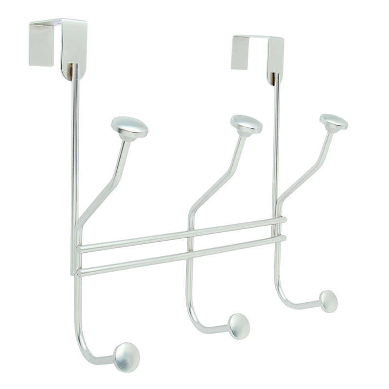 Amerock  9-5/16 in. L Silver  Steel  Medium  Over the Door Multiple  Hook  1 pk