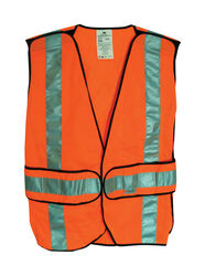 3M  Scotchlite  Reflective Polyester Mesh  Safety Vest with Reflective Stripe  Orange  One Size Fits