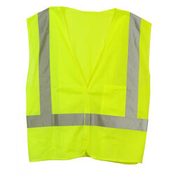 C.H. Hanson  Reflective Polyester Mesh  Safety Vest  Green  One Size Fits All
