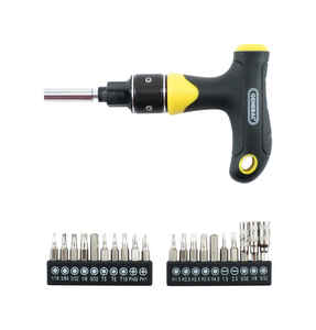 General Tools  - in. Multi-Bit  T-Handle Screwdriver  Black  20 pc.