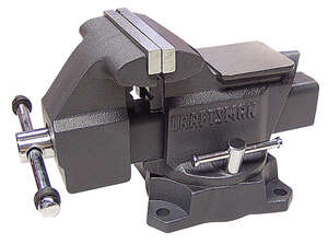 Craftsman  6 in. Steel  Black  Swivel Base Bench Vise