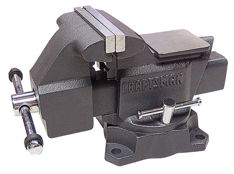 Craftsman  6 in. Steel  Bench Vise  Black  Swivel Base
