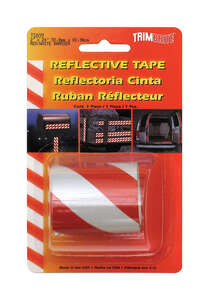 Trim Brite Reflective Tape Barrier Stripes 2 in. x 24 in. Red, White