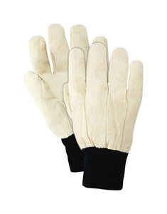 Handmaster  Men's  Indoor/Outdoor  Canvas  All Purpose  Gloves  White  L