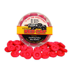 Little Red Cap  Red  Professional  Latex  Reusable Cualking Caps  35 pk