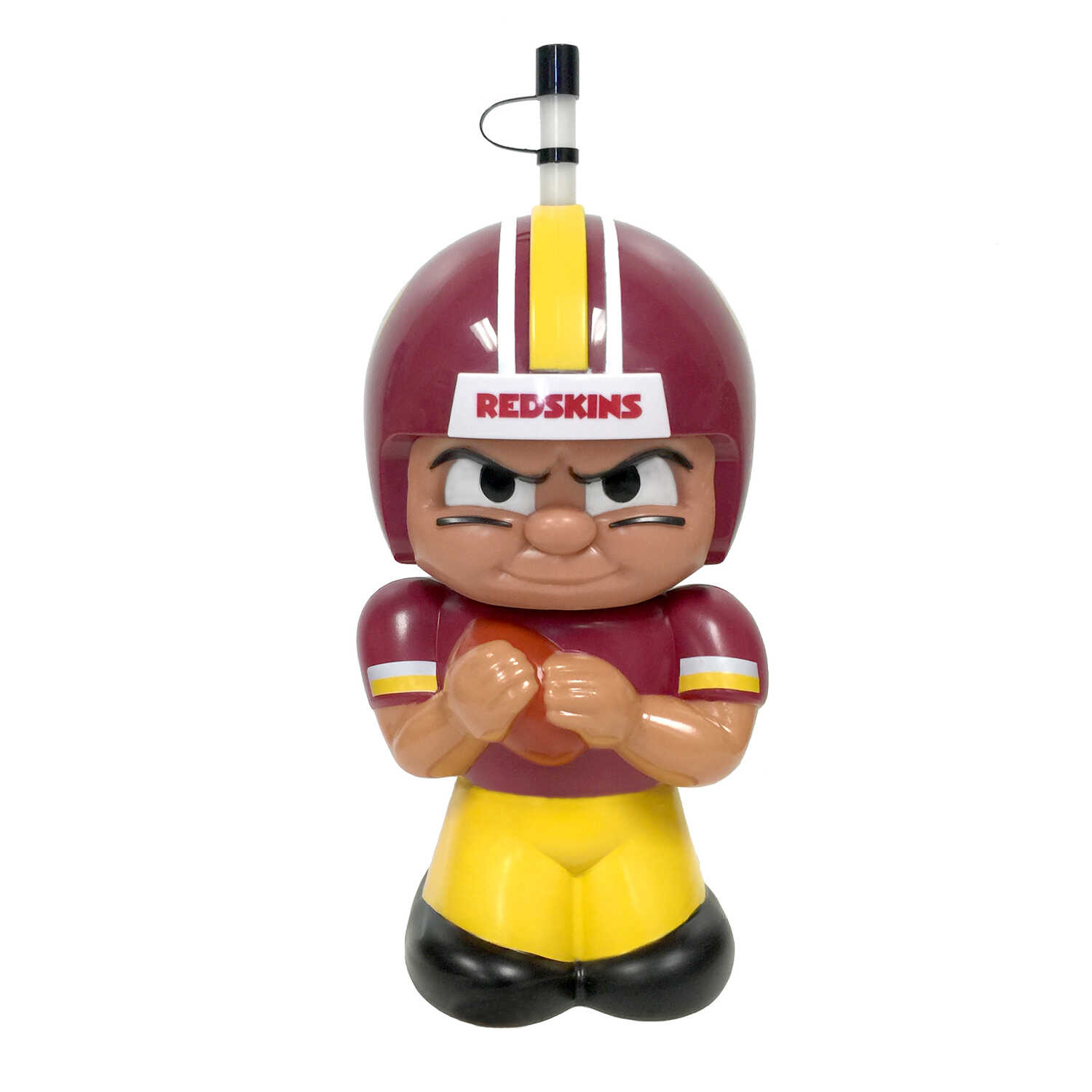 Party Animal  TeenyMates  Redskins  Plastic  3D Character  BPA Free 16 oz. Water Bottle