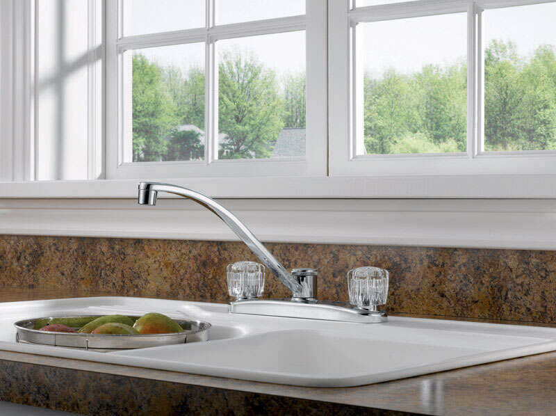 Peerless  Choice  Two Handle  Chrome  Kitchen Faucet