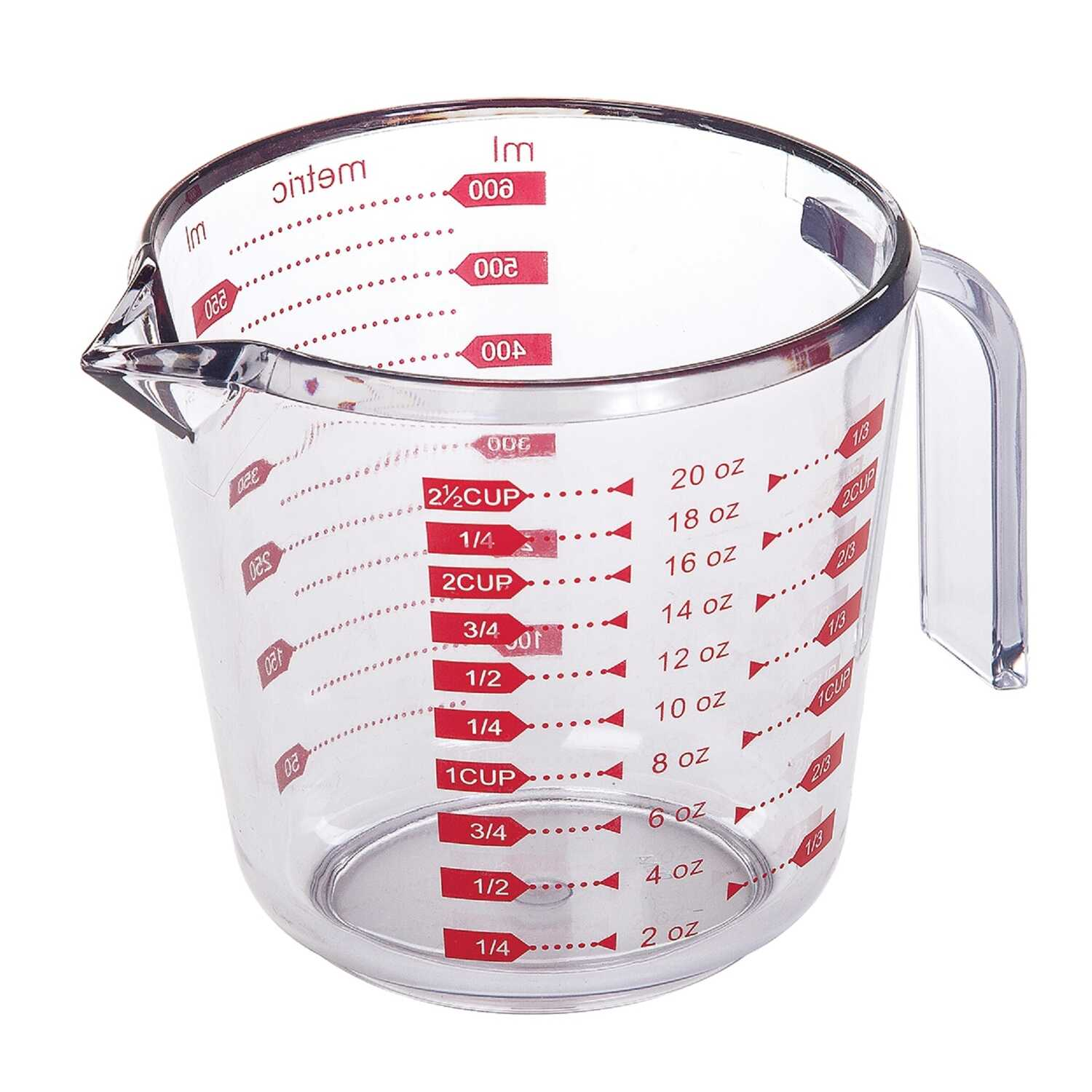 Progressive  Prepworks  2.5 cup Plastic  Clear  Measuring Cup