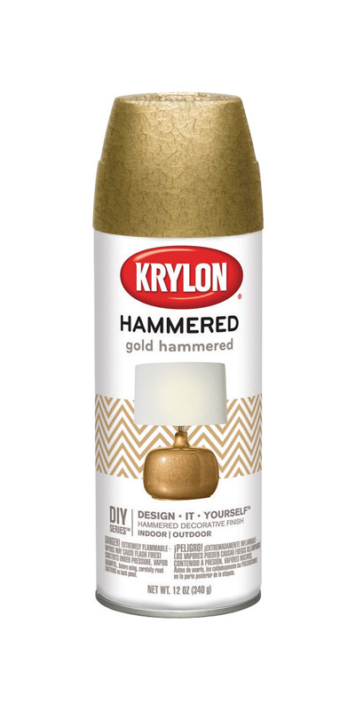 Krylon  Hammered  Gold  Spray Paint  12 oz.