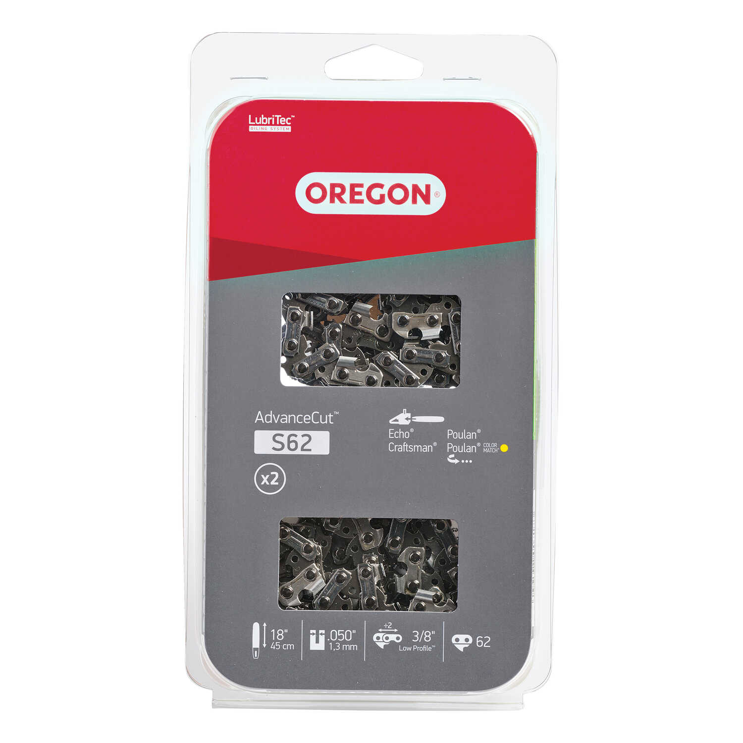 Oregon  Advance Cut  18 in. 62 links Chainsaw Chain