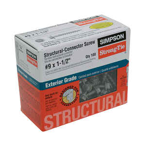 Simpson Strong-Tie  Strong-Drive  No. 9   x 1-1/2 in. L Star  Hex Head Galvanized  Steel  Connector
