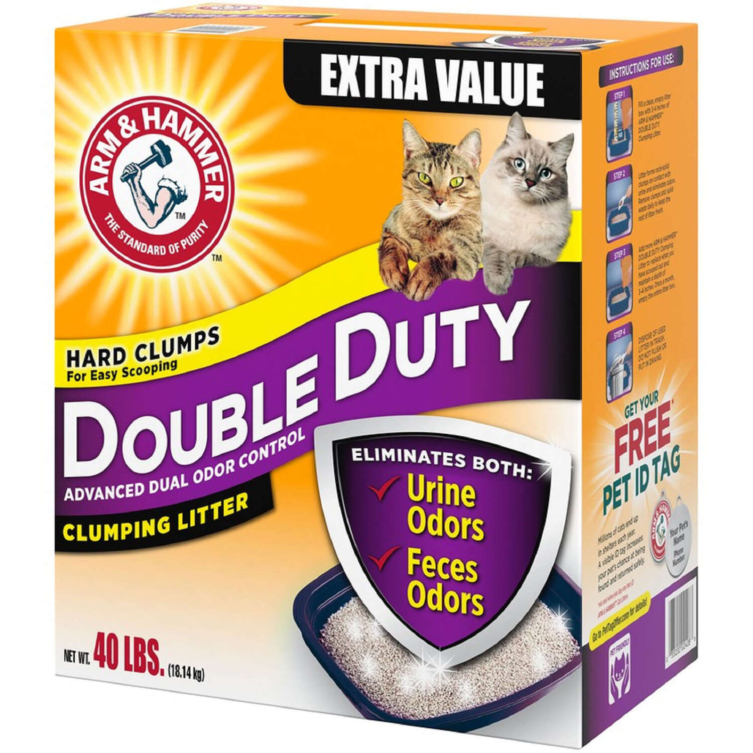 Arm & Hammer  No Scent Cat Litter Deodorizer  40 lb.