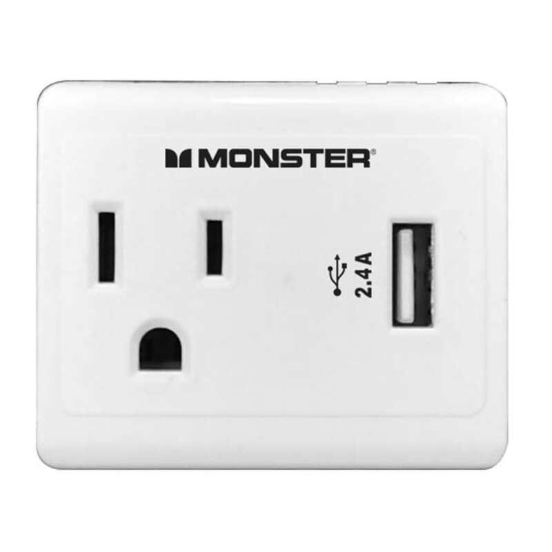 Monster Cable  Just Power It Up  Adapter  1 outlets 1 pc. Wall Tap