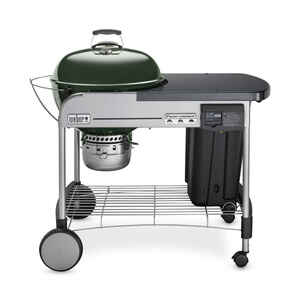 Weber  Performer Deluxe  Charcoal  22 in. W Green  Kettle Grill