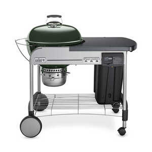 Weber  Performer Deluxe  Charcoal  Green  22 in. W Kettle Grill