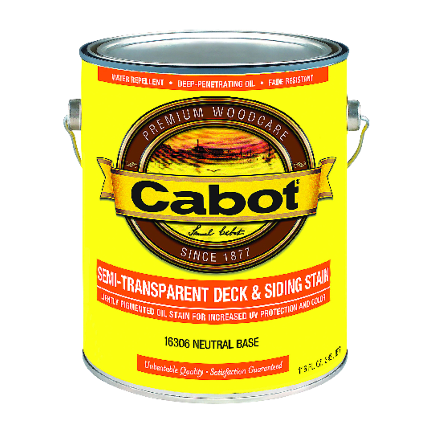 Cabot  Semi-Transparent Deck & Siding Stain  Semi-Transparent  Tintable Neutral Base  Oil-Based  Dec
