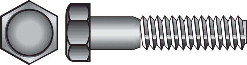 Hillman  5/16 in. Dia. x 3-1/2 in. L Hot Dipped Galvanized  Steel  Hex Bolt  50 pk