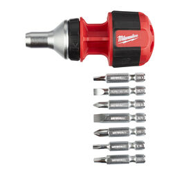 Milwaukee 8-in-1 Ratcheting Multi-Bit Driver