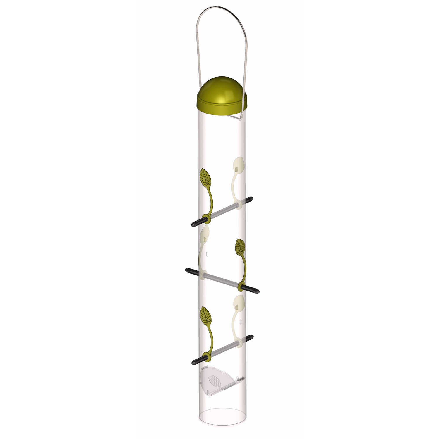 Perky-Pet  Finch  Plastic  1.5  6 ports Bird Feeder