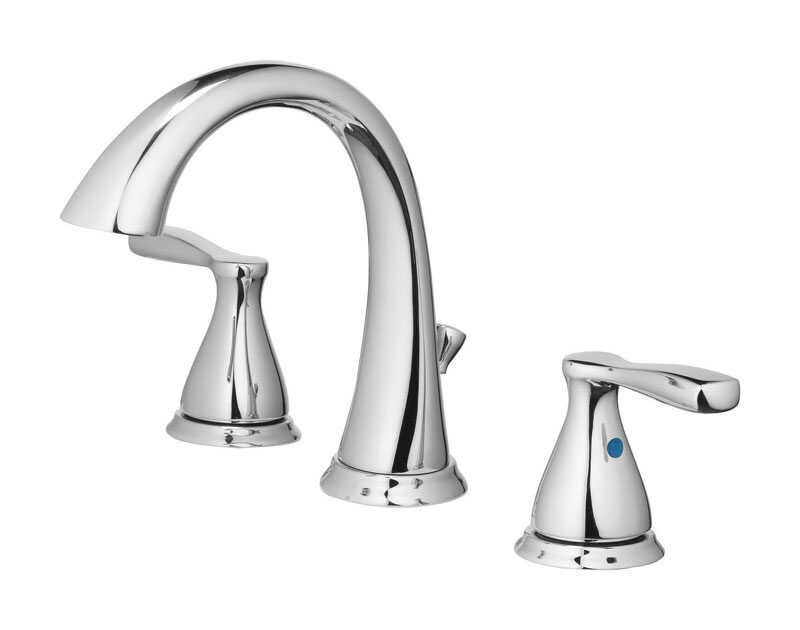 OakBrook  Modena  Moderna  Brushed Nickel  Widespread  Lavatory Pop-Up Faucet  6-8 in.