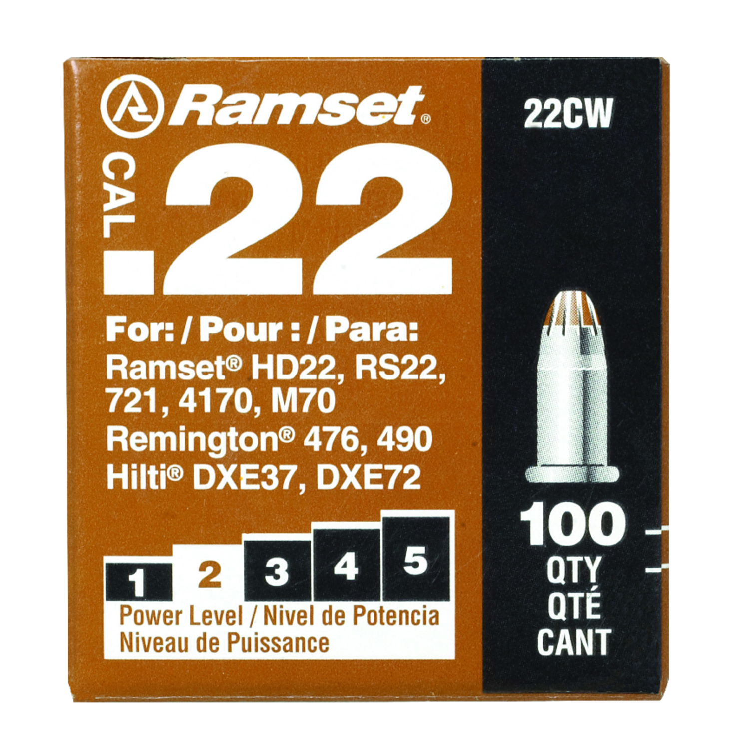 Ramset  0.3 in. Dia. x 0  L Steel  Anchor Bolts  100 pk