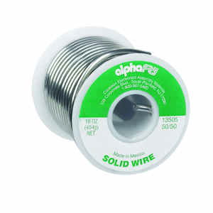 Alpha Fry  16 oz. Solid Wire Solder  0.125 in. Dia. Tin / Lead  50/50