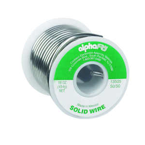 Alpha Fry  16 oz. Solid Wire Solder  50/50  Tin / Lead  0.125 in. Dia.