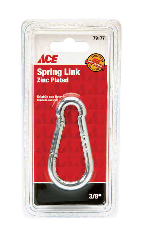 Ace  Zinc-Plated  Steel  Spring Snap  160 lb. 2-3/4 in. L