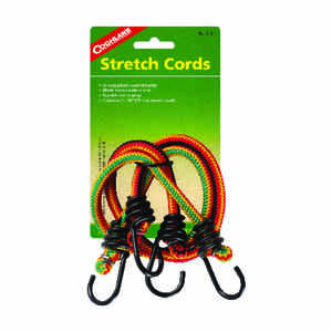 Coghlan's  Multicolored  Bungee Stretch Cord  20 in. L x 0.315 in.  99 lb. 2 pk