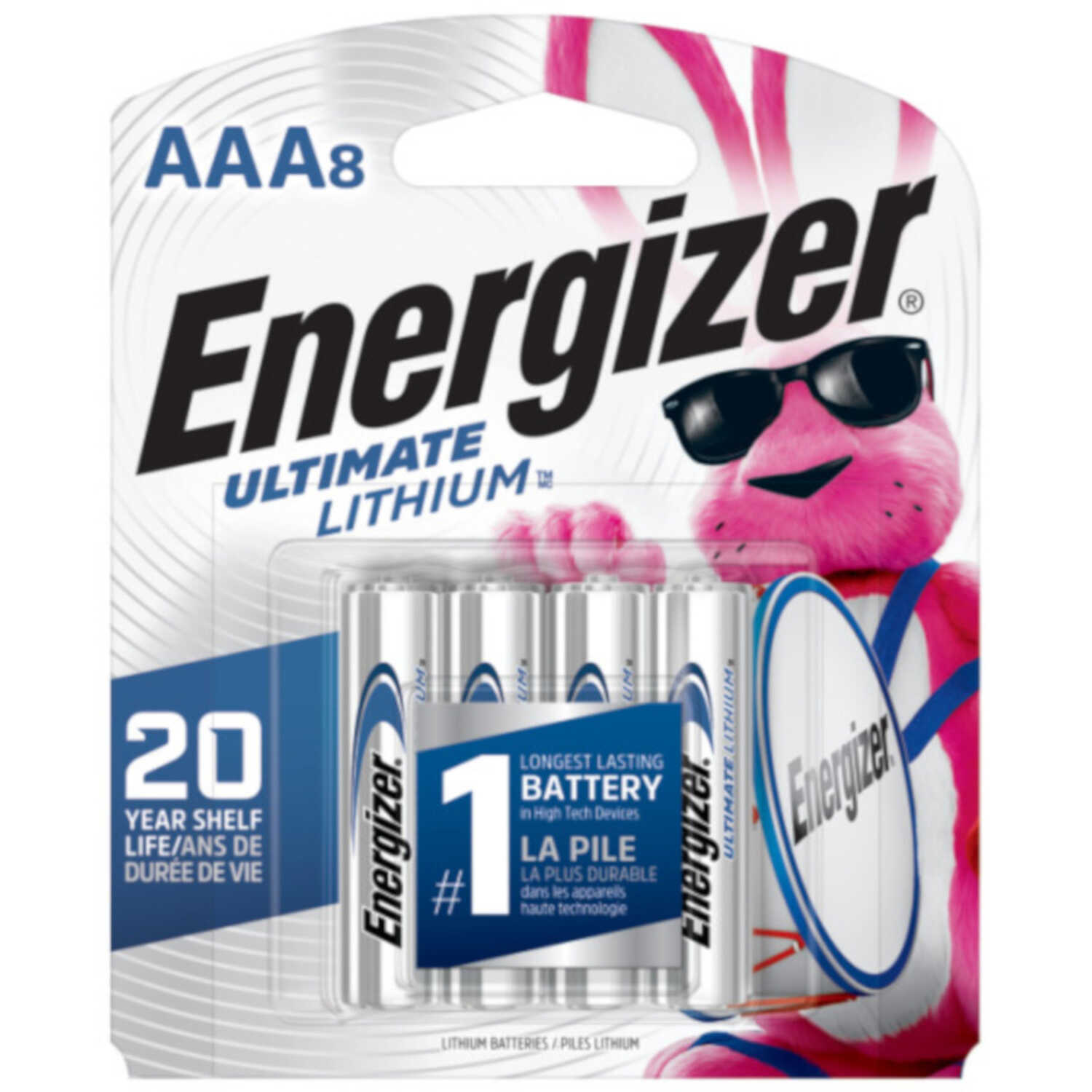 Energizer  Lithium  AAA  Batteries  8 pk