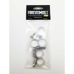 FOREVERBOLT  1/2 in. to 29/32 in. SAE 8  Silver  Hose Clamp  Stainless Steel  Band