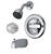 Delta  Monitor  Classic  1-Handle  Chrome  Tub and Shower Faucet