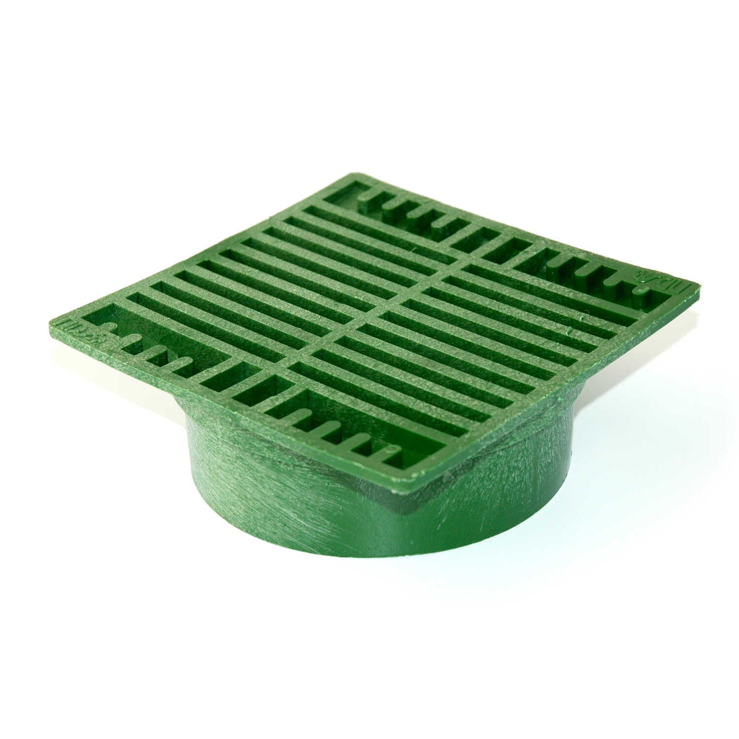 NDS  7 in. Green  Polyolefin  Square  Grate