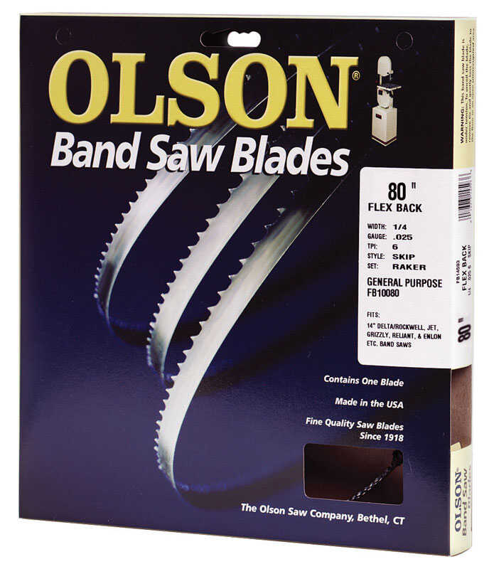 Olson  80 in. L x 0.025 in. thick  x 0.2 in. W Carbon Steel  Band Saw Blade  Regular teeth 1 pk 10 T