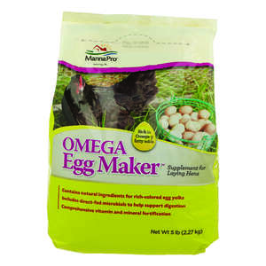 Manna Pro  Omega Egg Maker  Grower/Starter Feed  Crumble  For Poultry 5 lb.