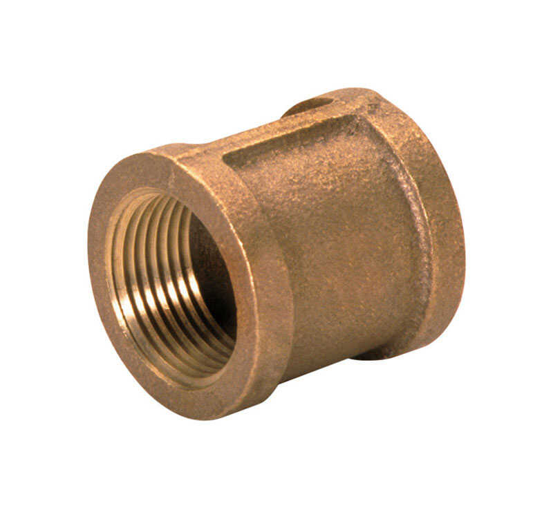 JMF  1/2 in. Dia. x 3/8 in. Dia. x FPT   x 3/8 in. Dia. 1/2 in. FPT  Brass  Coupling