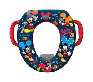 Ginsey  Disney Mickey Mouse-Clubhouse All-Star  Round  Soft  Child's Toilet Seat