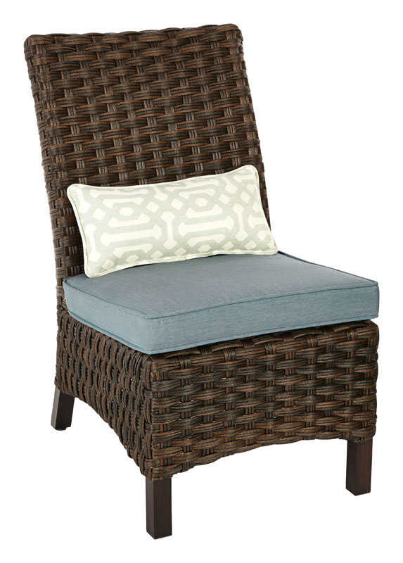 Living Accents  Armless  Brown  Aluminum  Estate  Chair