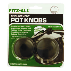 TOPS  Plastic  Replacement Pot Knob  Black