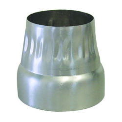 Deflect-O 4 in. Dia. Silver Aluminum Increaser/Reducer