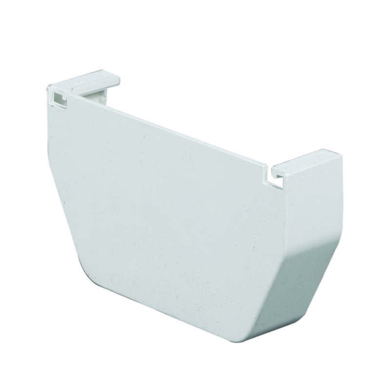 Amerimax  5 in. H x 4.5 in. W x 5 in. L White  Vinyl  Contemporary  Gutter End Cap