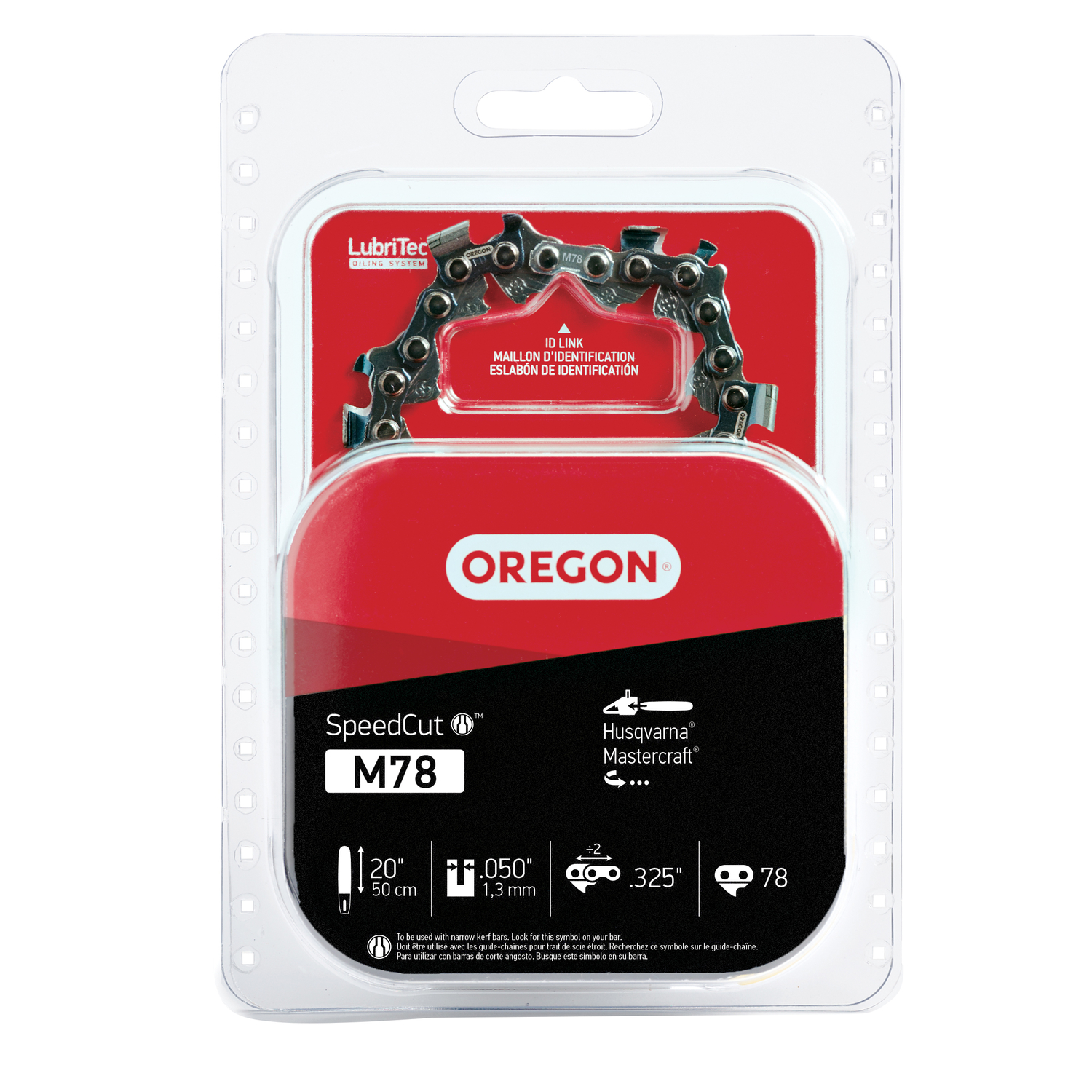 Oregon  SpeedCut  20 in. L 78 links Chainsaw Chain