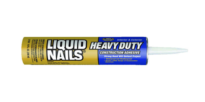 Liquid Nails  Heavy Duty  Acrylic Latex  Construction Adhesive  10 oz.
