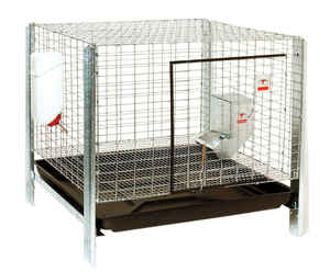 Pet Lodge  Metal  Rabbit Hutch Kit  Silver  23 in. H x 24 in. W x 24 in. D