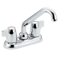 Moen Chateau Chrome Two Handle Laundry Faucet 4 in.