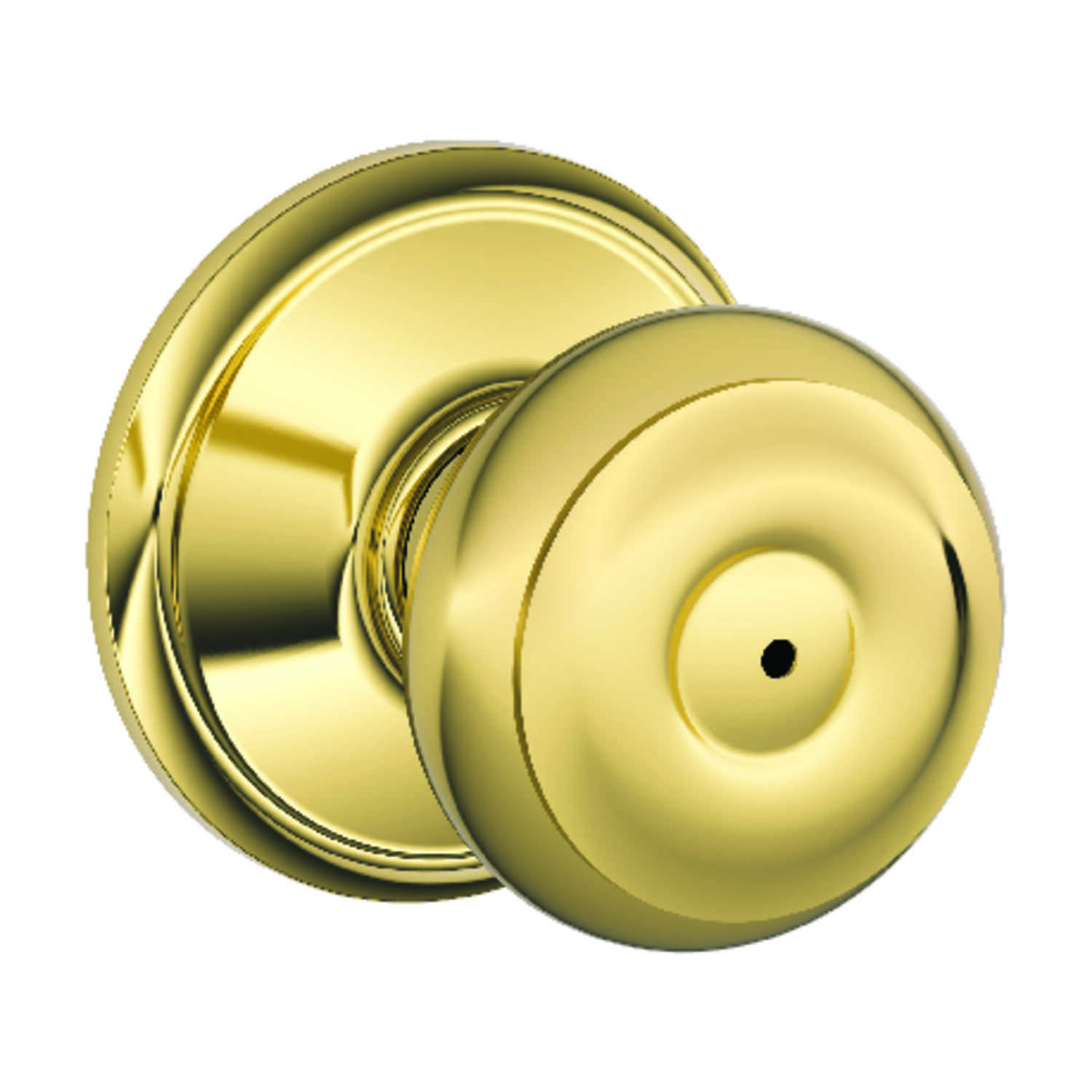 Schlage  Georgian  Bright Brass  Privacy Lockset  ANSI Grade 2  1-3/4 in.