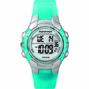Timex  Marathon  Unisex  Round  Blue  Sports Watch  Digital  Resin  Water Resistant