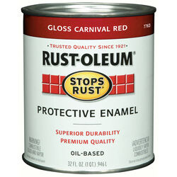 Rust-Oleum  Stops Rust  Gloss  Carnival Red  Oil-Based  Protective Enamel  Indoor and Outdoor  1 qt.