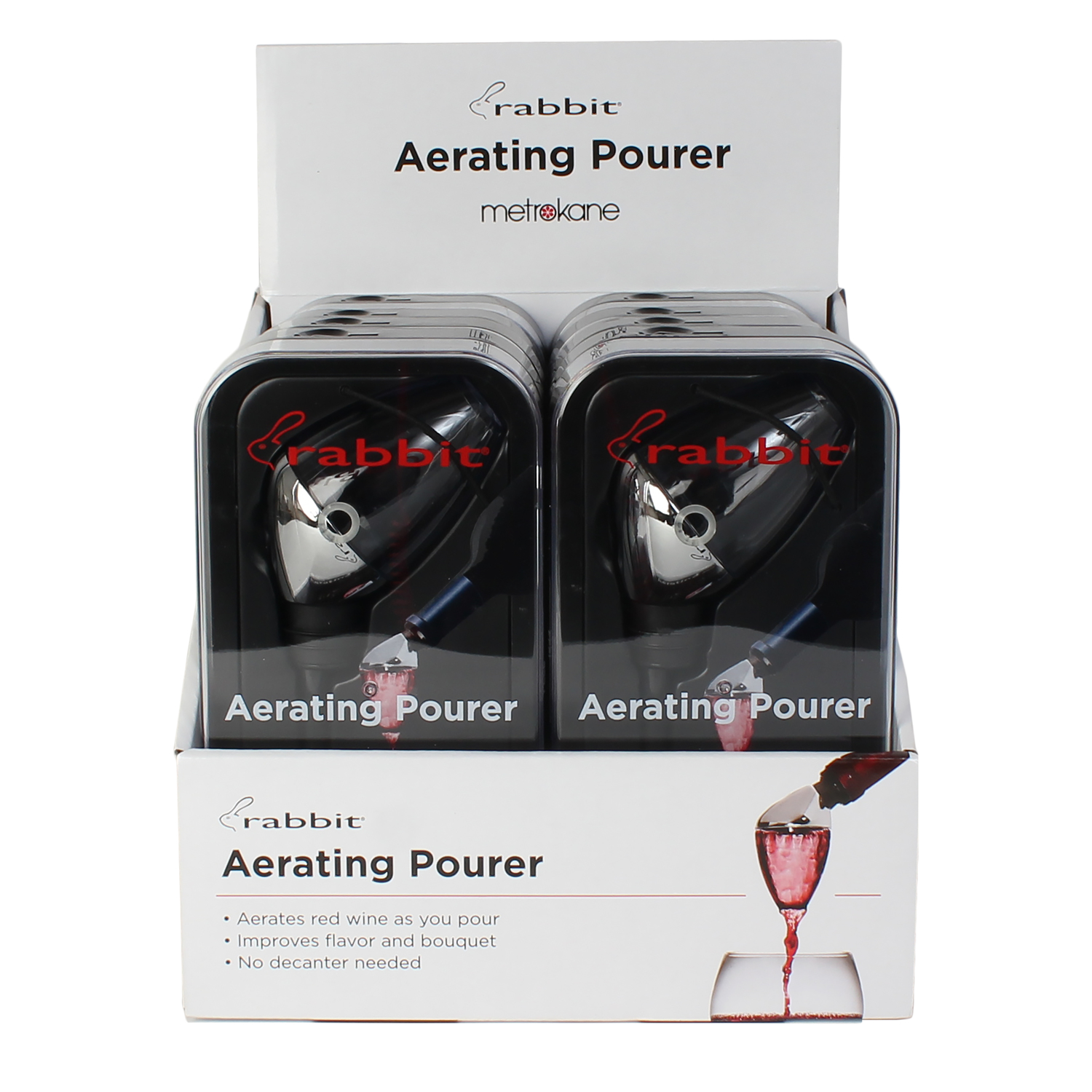 Metrokane  Rabbit  Aerating Wine Pourer  ABS
