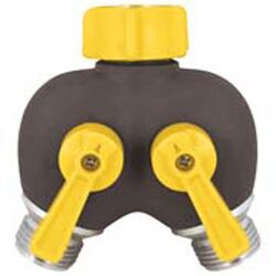 Ace  Metal  Double Male  2-Way Shut-off Valve